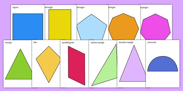 2D Shape A4 Cut-Outs - numeracy, geometry, shapes, 2d, 2D shape A4 cut outs, 2D shapes, 2D shape cut outs, cut outs, shape cut outs, a4 cut outs, shape A4 cut outs