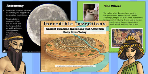 Ancient Sumerian Inventions Informative PowerPoint - sumer
