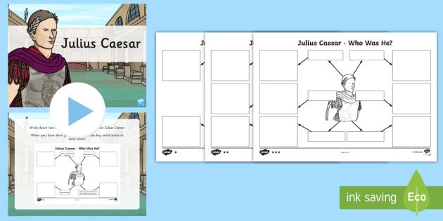 Julius Caesar Task Setter Flipchart - julius caesar, task setter