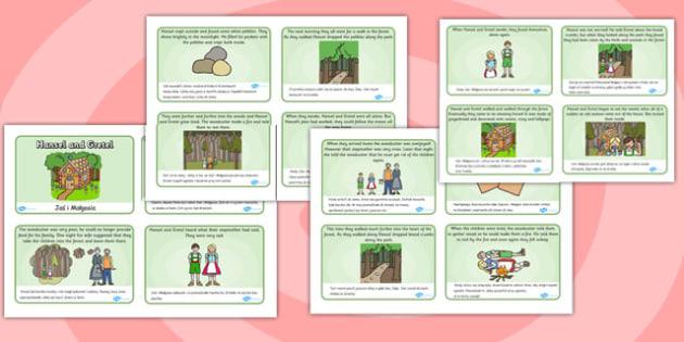 Hansel and Gretel Story Sequencing (4 per A4) Polish Translation - polish