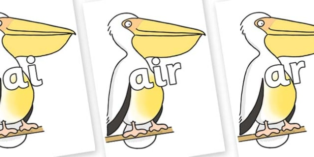 Phase 3 Phonemes on Pelican to Support Teaching on The Great Pet Sale - Phonemes, phoneme, Phase 3, Phase three, Foundation, Literacy, Letters and Sounds, DfES, display