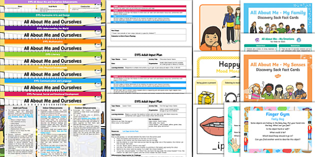 EYFS All About Me and Ourselves Bumper Planning Pack - bumper, planning, pack