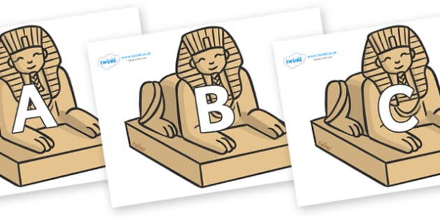 A-Z Alphabet on Sphinx - A-Z, A4, display, Alphabet frieze, Display letters, Letter posters, A-Z letters, Alphabet flashcards