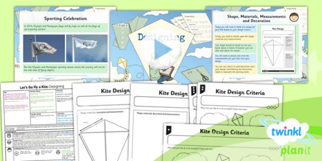 D&T: Let's Go Fly a Kite: Designing LKS2 Lesson Pack 4
