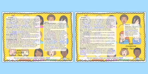 Ourselves Lesson Plan Ideas KS2 - ourselves, KS2, lesson plan