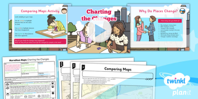 Geography: Marvellous Maps: Charting the Changes Year 5 Lesson Pack 6