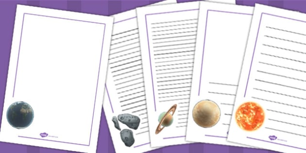 Year 5 Science Earth and Space Page Borders - Space, Earth, Page