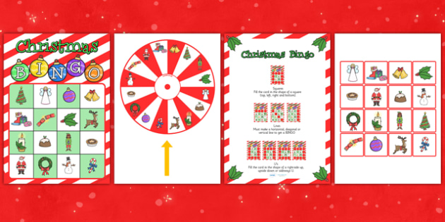 Christmas Spinner Bingo Game - christmas, bingo, game, lotto