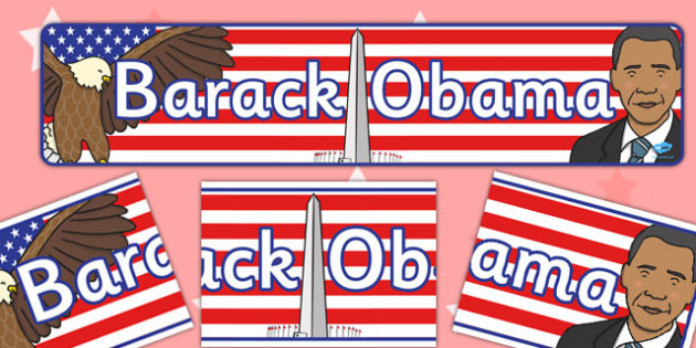 Barack Obama Display Banner - display, banner, barack obama