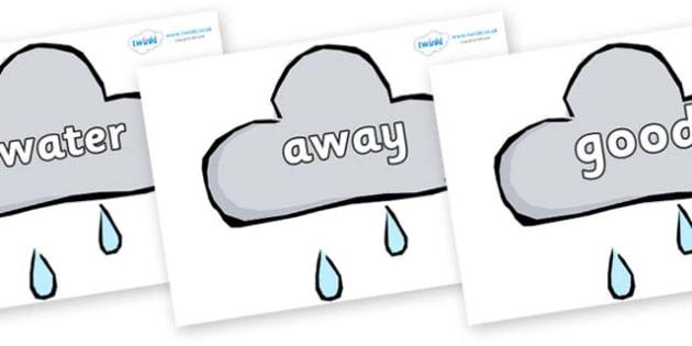 Next 200 Common Words on Weather Symbols (Rain) - Next 200 Common Words on  - DfES Letters and Sounds, Letters and Sounds, Letters and sounds words, Common words, 200 common words
