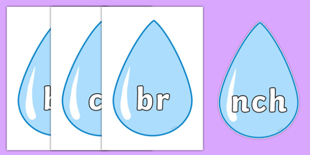 Phase 4 Blends and Clusters on Raindrops - phase 4, blends and clusters, raindrops, display