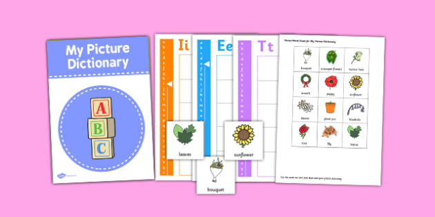 Florist Picture Dictionary Word Cards Set - florist, dictionary
