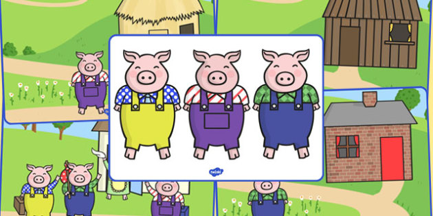 The Three Little Pigs Voice Sounds Pictures - voice, sounds