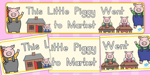 This Little Piggy Display Banner - australia, display, banner