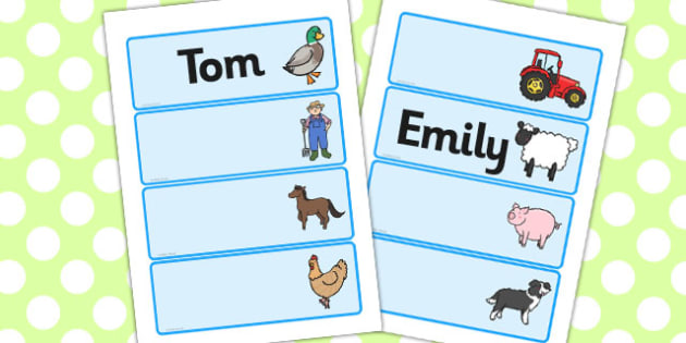Farmer And Duck Editable Drawer Peg Name Labels - farmer duck, editable, editable labels, name labels, draw labels, peg labels, themed labels, draw name labels