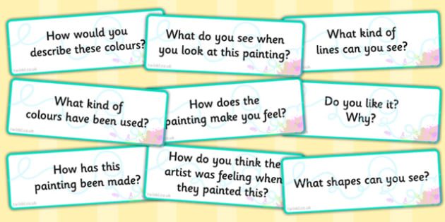 Looking at Abstract Art Prompt Questions - abstract, art, prompt