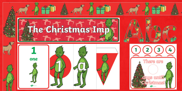 The Christmas Imp Display Pack - The Christmas Imp, the grinch, the grinch who stole christmas, christmas, green, imp,