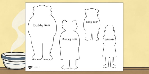 Goldilocks and the Three Bears Shadow Puppets - puppet, role play
