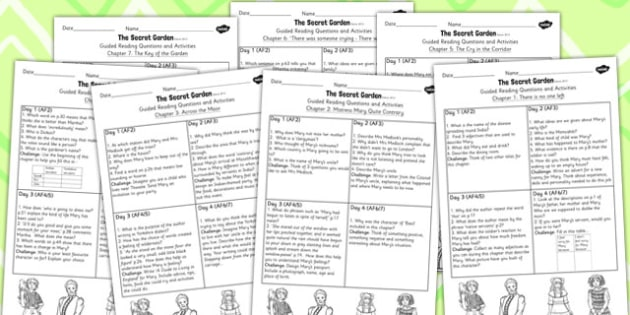 The Secret Garden Guided Reading Pack - guided reading, pack