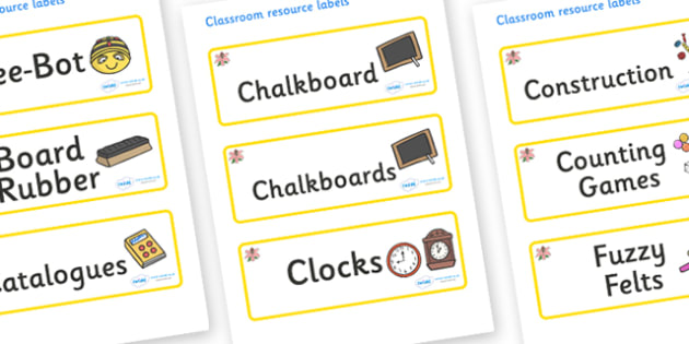 Lily Themed Editable Additional Classroom Resource Labels - Themed Label template, Resource Label, Name Labels, Editable Labels, Drawer Labels, KS1 Labels, Foundation Labels, Foundation Stage Labels, Teaching Labels, Resource Labels, Tray Labels, Pri
