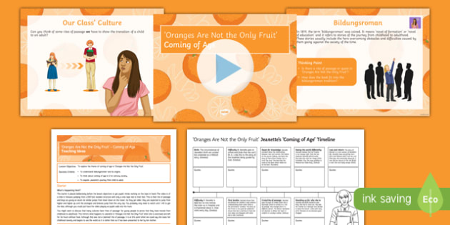 Oranges Are Not the Only Fruit Lesson Pack: Coming of Age