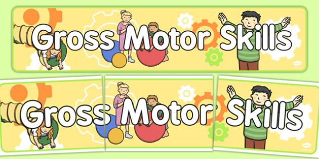 Gross Motor Skills Display Banner - display, banner, motor skills
