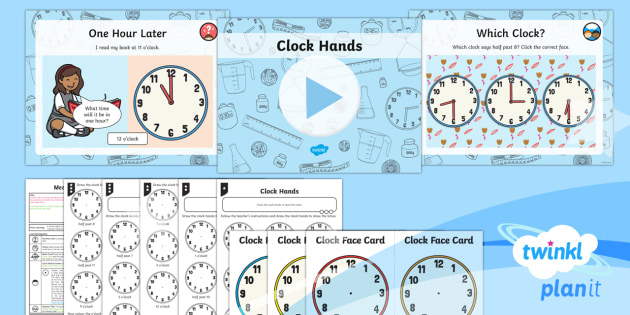 PlanIt Y1 Measurement Lesson Pack Telling the Time (3) - Measurement, measures, telling the time, tell the time, analogue clock, clock, telling time, o'cloc