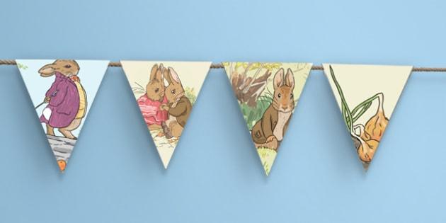 Beatrix Potter - The Tale of Benjamin Bunny Bunting - beatrix potter, benjamin bunny