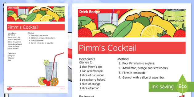 Elderly Care St George's Day Alcoholic Drink Recipe - Elderly, Reminiscence, Care Homes, St. George's Day