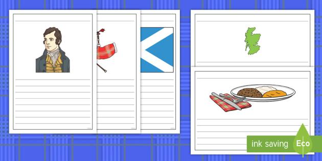 Burns Nights Writing Frames - Scottish, Scotland, significant individuals, Robert Burns, National Poet, Burns Supper, Burns Night,