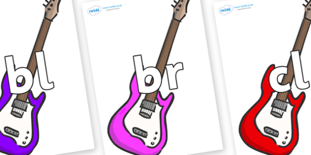 Initial Letter Blends on Guitar - Initial Letters, initial letter, letter blend, letter blends, consonant, consonants, digraph, trigraph, literacy, alphabet, letters, foundation stage literacy
