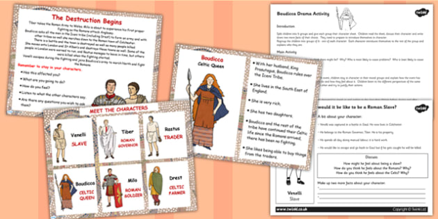Boudicca Drama Activity Lesson Teaching Pack Flipchart - boudicca