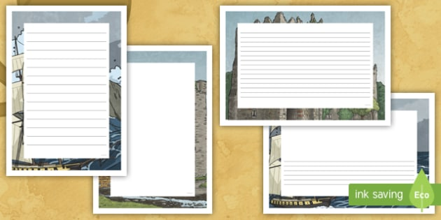 Grace O'Malley Page Border Pack - Requests - ROI, Grace O'Malley, Gráinne Mhaol, Pirate Queen, SESE, Story, Irish