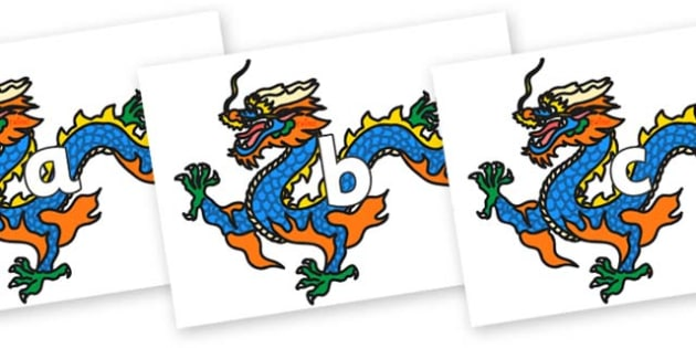 Phase 2 Phonemes on Chinese Dragons - Phonemes, phoneme, Phase 2, Phase two, Foundation, Literacy, Letters and Sounds, DfES, display