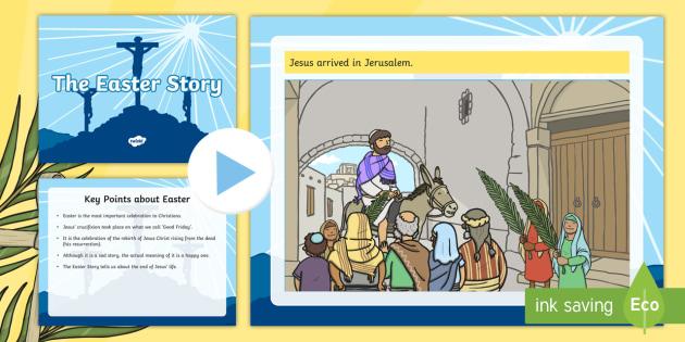 Easter Story Task Setter Powerpoint Pack (Editable) - easter