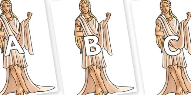 A-Z Alphabet on Hera - A-Z, A4, display, Alphabet frieze, Display letters, Letter posters, A-Z letters, Alphabet flashcards