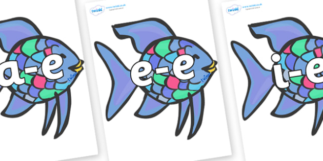 Modifying E Letters on Rainbow Fish to Support Teaching on The Rainbow Fish - Modifying E, letters, modify, Phase 5, Phase five, alternative spellings for phonemes, DfES letters and Sounds