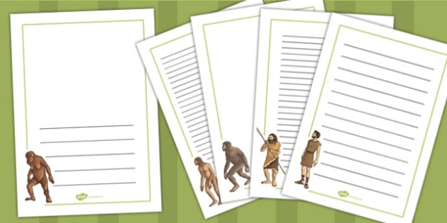 Human Evolution Page Borders - human, evolution, page, borders