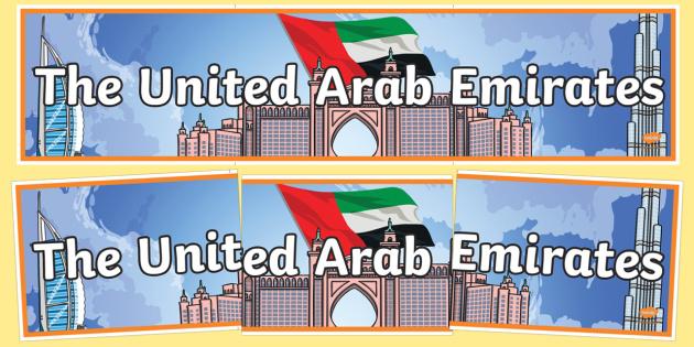 United Arab Emirates Display Banner - united arab emirates, display banner, display, banner, country, uae