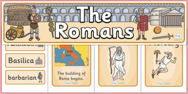 The Romans Display Pack - the romans, display pack, display banner, display photos, display, resource pack, display lettering, resources, classroom display