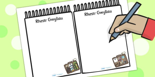 Travel Agents Holiday List Welsh Translation - roleplay, EAL