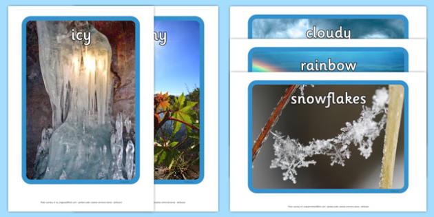 Weather Display Photos - australia, Display Posters, Weather, A4, display, posters, rain, wind, sun, snow, thunder, lightning
