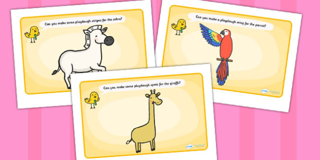 Playdough Mats to Support Teaching on Handa's Surprise - activity, activities, games