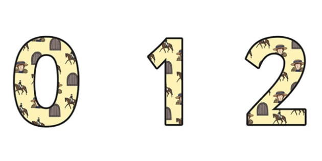 Emily Davison Themed A4 Display Numbers - emily davidson, display numbers, themed number, classroom number, numbers for display, a4 numbers, number