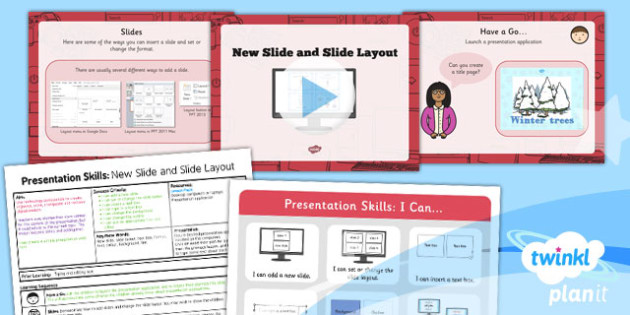 Computing: PowerPoint Presentation Skills: New Slide Slide Layout Year 2 Lesson Pack 3