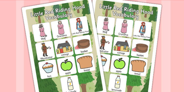 Little Red Riding Hood Vocabulary Poster - posters, display