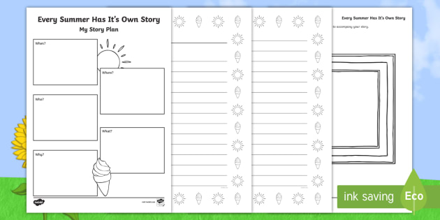 Every Summer Has Its Own Story Writing Template  - ROI Summer Resources, imagination, story writing, narrative, creative writing, adventure, ,Irish