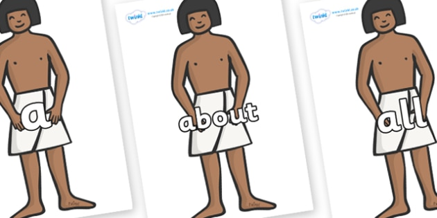 100 High Frequency Words on Egyptian Workers - High frequency words, hfw, DfES Letters and Sounds, Letters and Sounds, display words