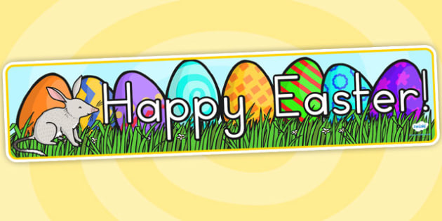 Easter Banner - easter, banner, easter display, religion, RE