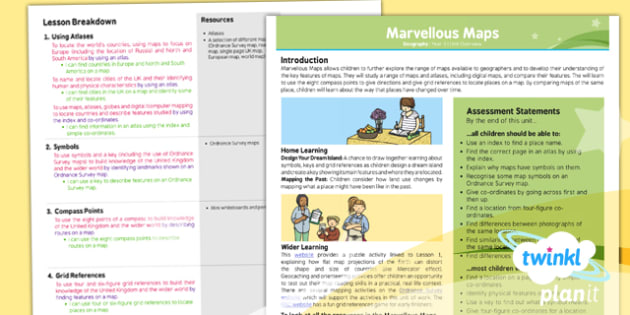 Geography: Marvellous Maps Year 5 Planning Overview